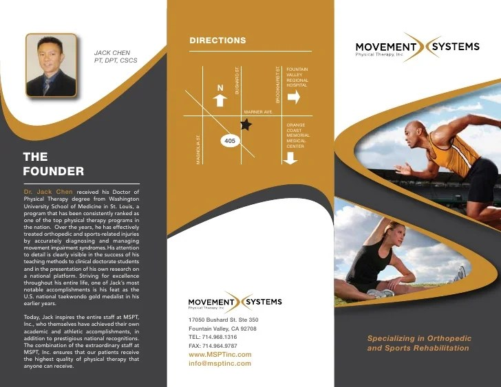 Movement Systems Physical Therapy Inc Brochure