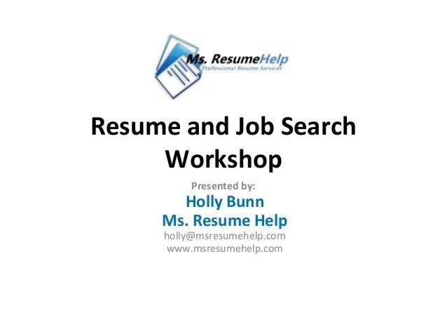 resume writing tips handout