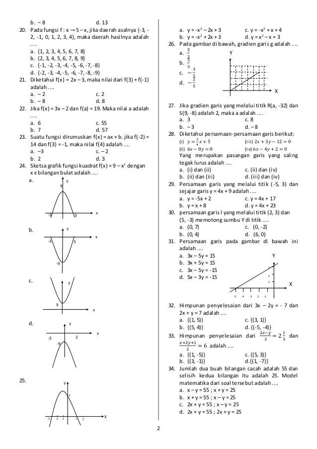 Soal Uas Matematika Kelas 8 Semester 1 Kurikulum 2013 : matematika, kelas, semester, kurikulum, Contoh, Matematika, Kelas, Semester, Kurikulum, Dapatkan