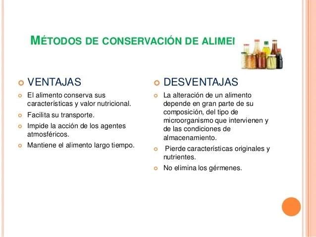 MTODOS DE CONSERVACIN DE LOS ALIMENTOS
