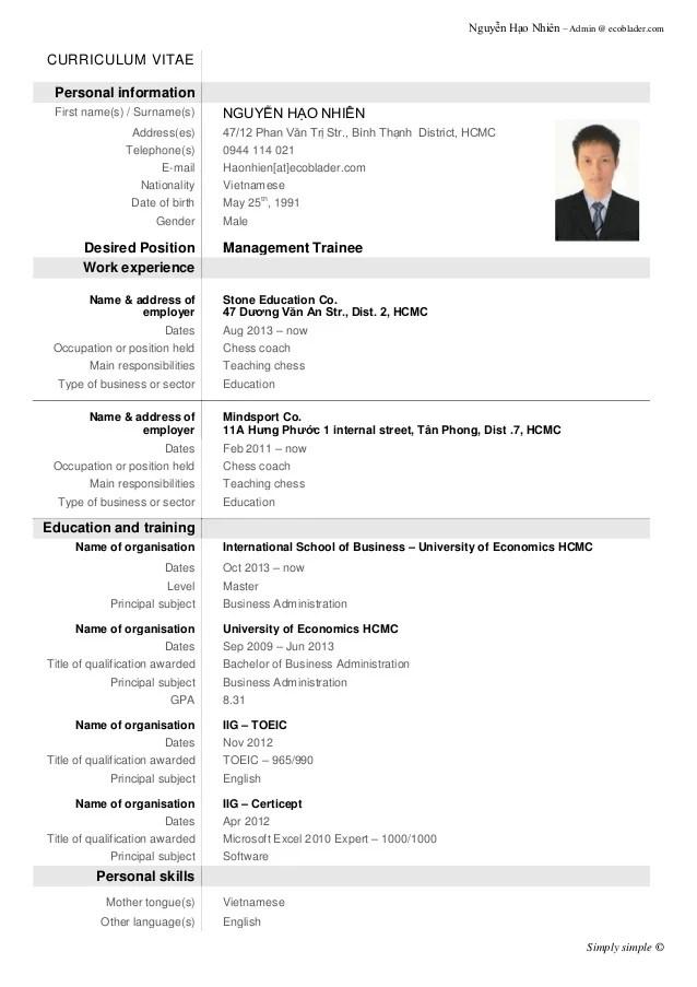 Demo CV