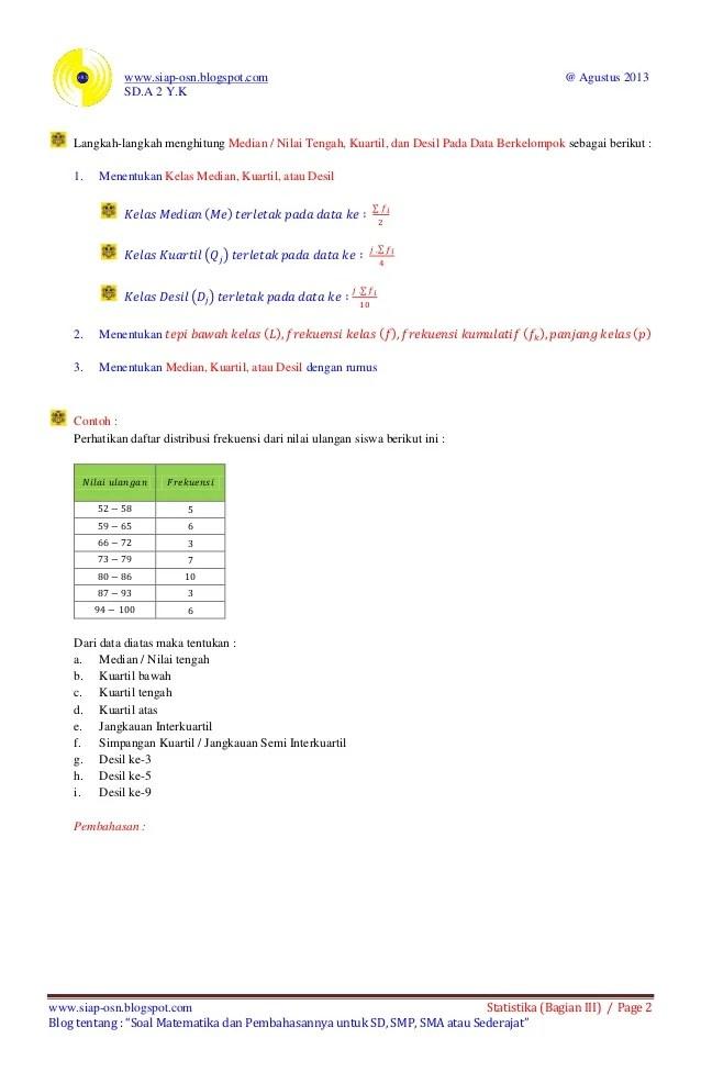 Cara Menghitung Kuartil Atas : menghitung, kuartil, Mudahnya, Belajar, Statistika, (bagian, Menghitung, Median, Kuarti…