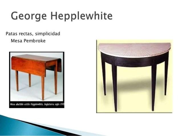 Muebles neoclsico Ingles Hepplewhite y Sheraton