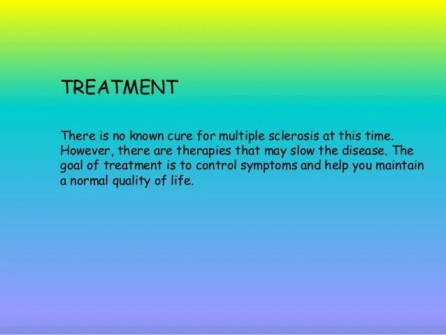 Sclerosis No Multiple About Cure