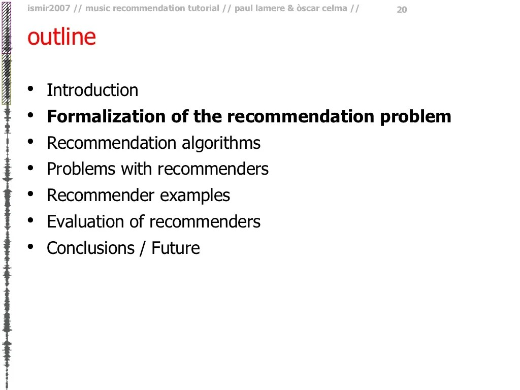 outline Introduction Formalization of the