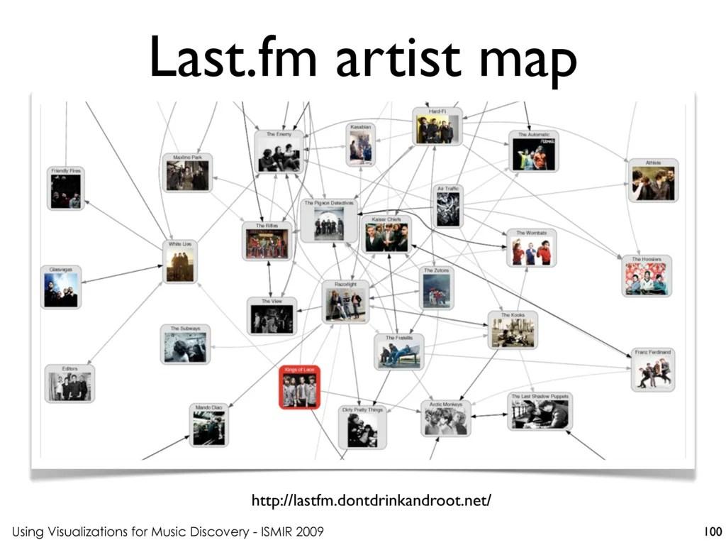 Last.fm artist map http://lastfm.dontdrinkandroot.net/ Using
