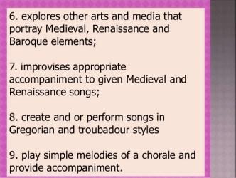 g9 q1 medieval elements renaissance baroque arts portray