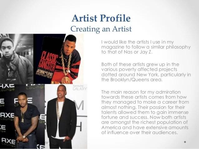 Music magazine Artist Profile