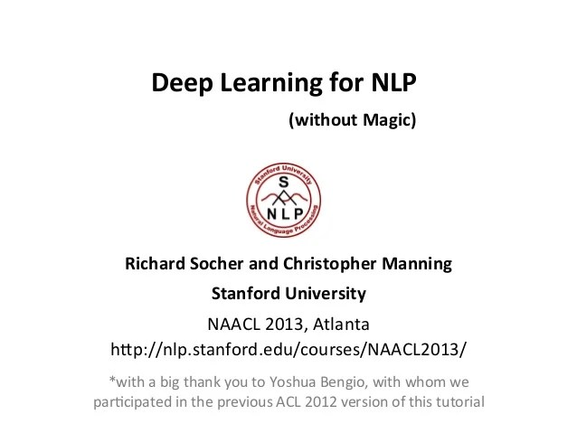 Download Deep Learning for NLP