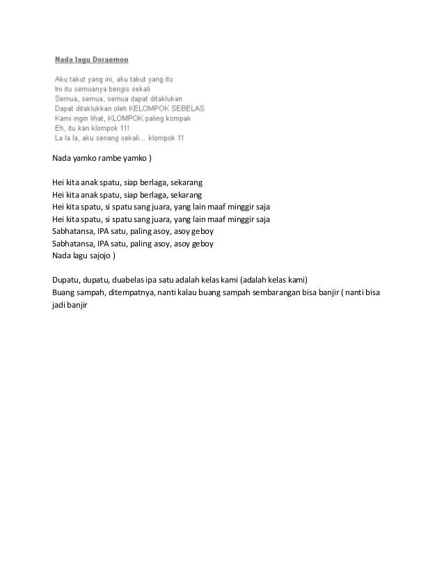 Contoh Lirik Yel Yel Lucu : contoh, lirik, Lirik, Pramuka, Sekali