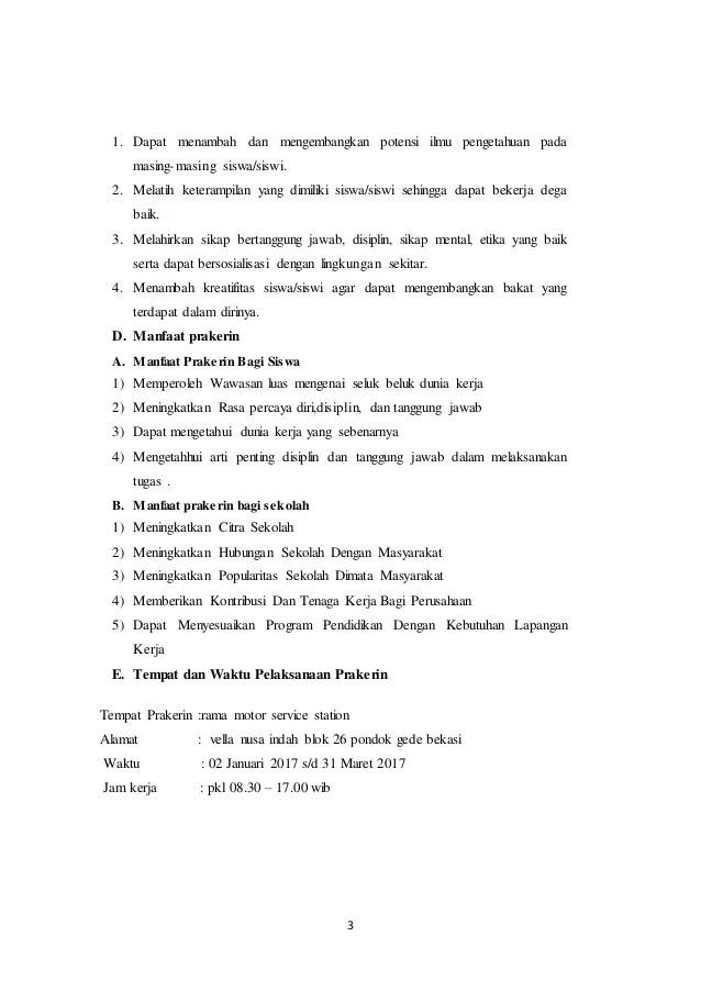 Contoh Laporan Pkl Otomotif Motor Download Contoh Lengkap Gratis