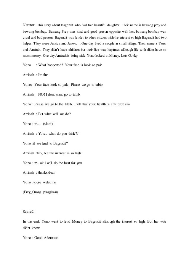 Teks Drama Bahasa Inggris : drama, bahasa, inggris, Drama, Bahasa, Inggris