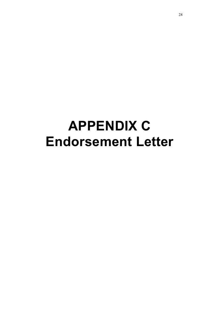 medium resolution of 28 appendix cendorsement letter