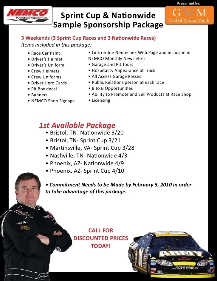 NASCAR Sponsorship Package