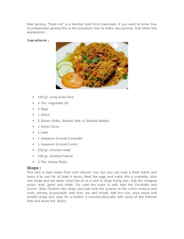 Contoh Procedure Text Makanan : contoh, procedure, makanan, Goreng