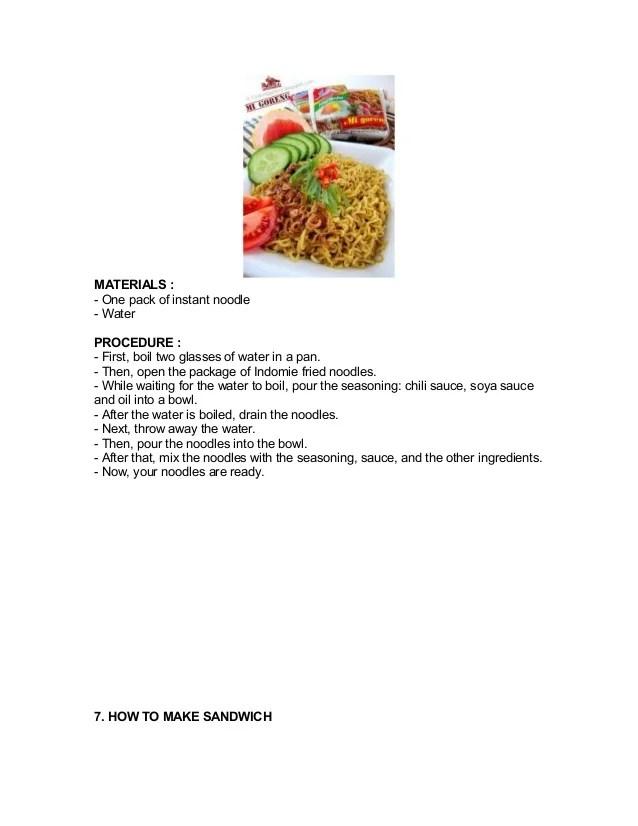 Contoh Procedure Text Makanan : contoh, procedure, makanan, Sandwich, Procedure, Howto, Techno