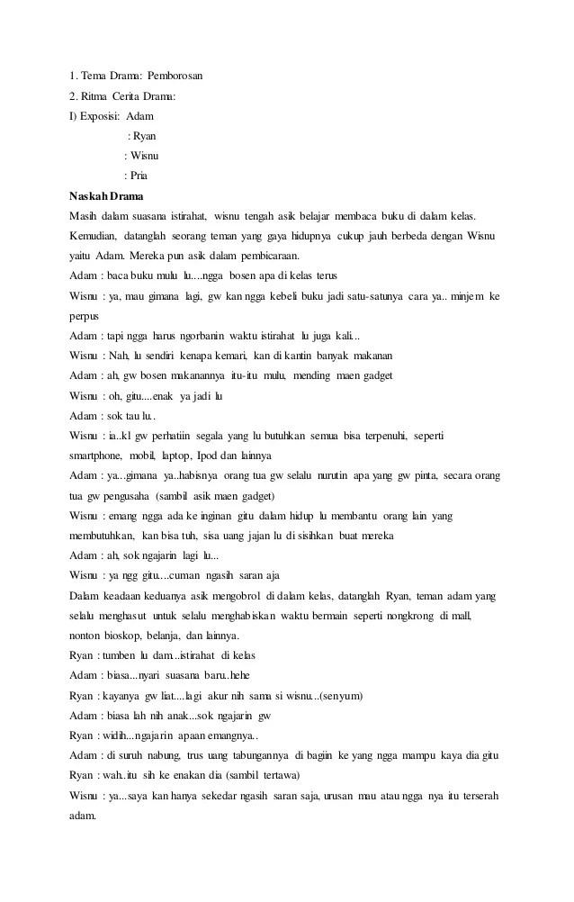 Naskah Drama Persahabatan 4 Orang : naskah, drama, persahabatan, orang, Naskah, Drama, Orang, Pemborosan