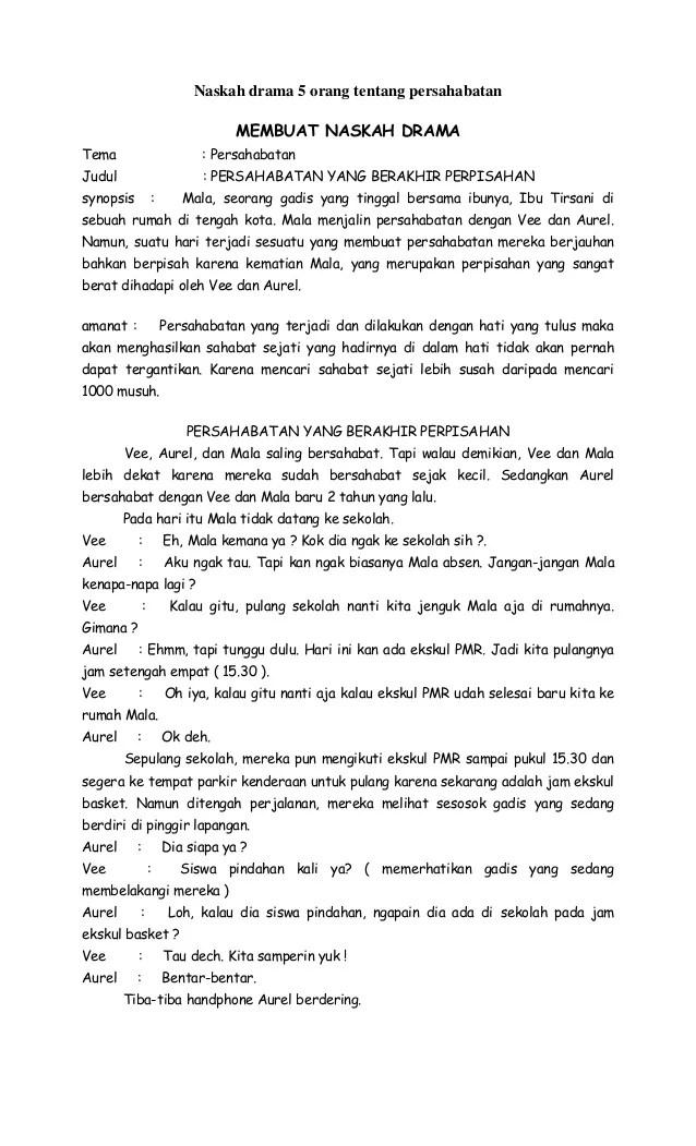 Naskah Drama 5 Orang : naskah, drama, orang, Naskah, Drama, Orang, Tentang, Persahabatan
