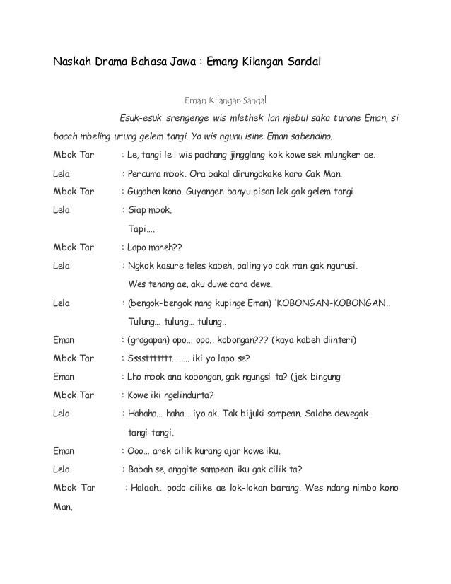 Drama Bahasa Jawa 5 Orang : drama, bahasa, orang, Drama, Komedi, Bahasa