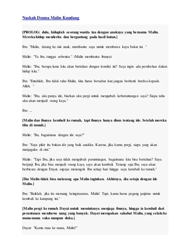 Naskah Drama Malin Kundang : naskah, drama, malin, kundang, Naskah, Drama, Malin, Kundang