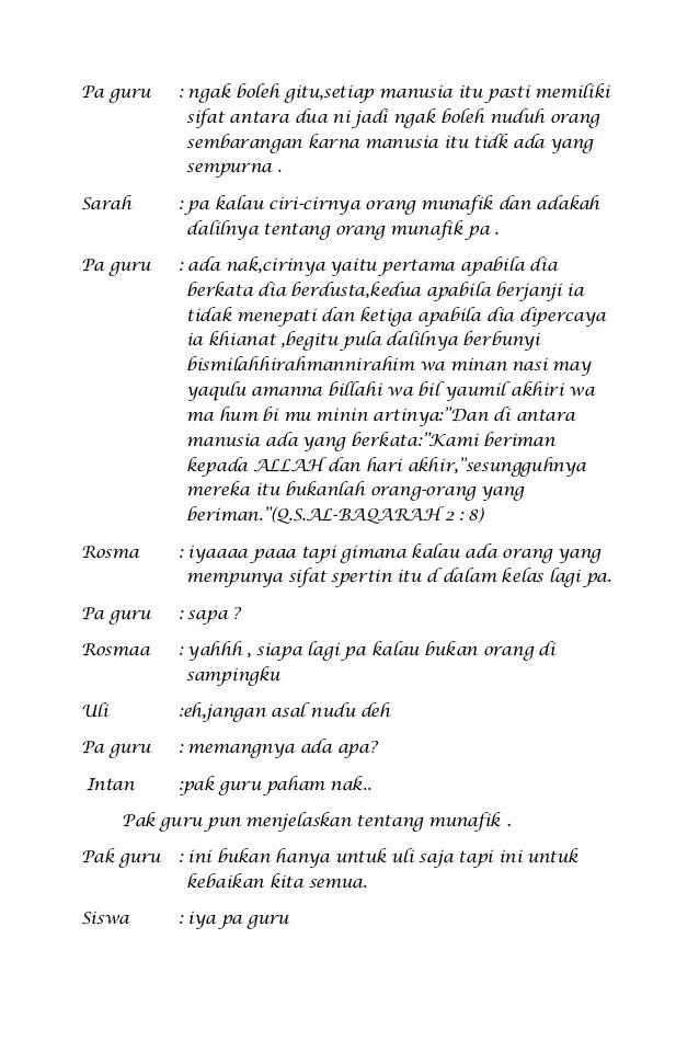 Naskah Drama Dua Orang : naskah, drama, orang, Naskah, Drama, Munafik