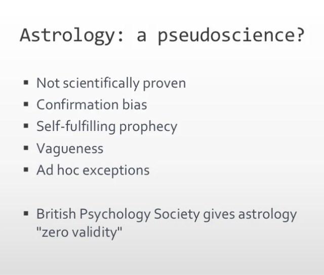 Astrology A Pseudoscience