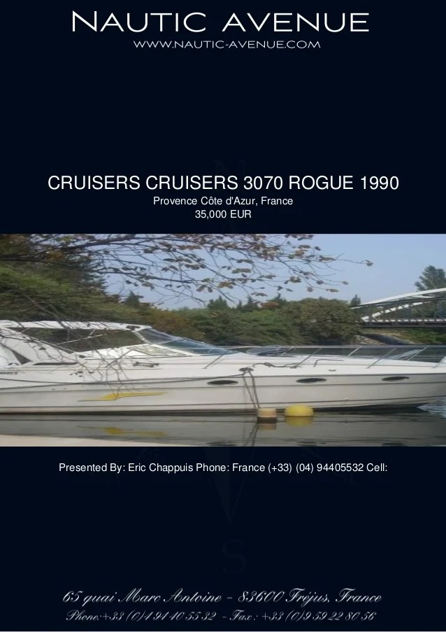 CRUISERS CRUISERS 3070 ROGUE 1990 35000 For Sale