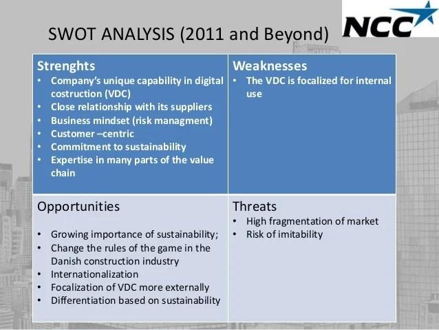 Ncc construction DK Strategy