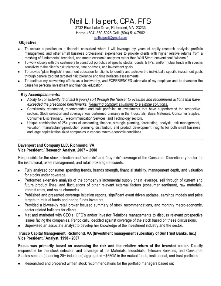 Resume Examples For Certified Public Accountants   Resume ...