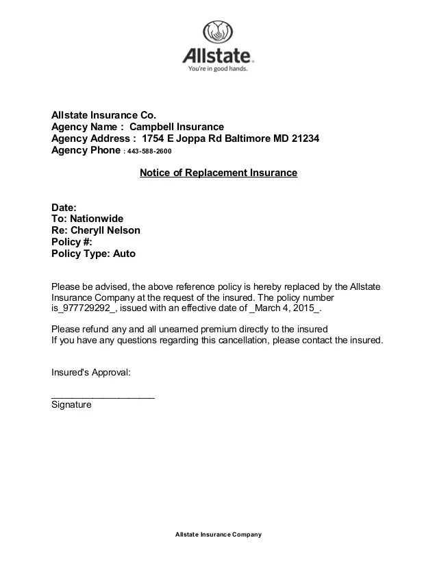 insurance policy cancellation letter  Tulumsmsenderco