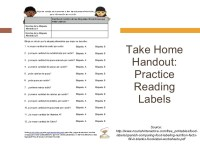 Reading Nutrition Labels Handout  Nutrition Ftempo