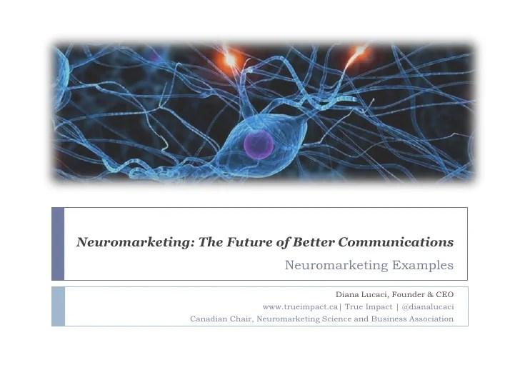 Neuromarketing Examples  Neuromarketing Overview