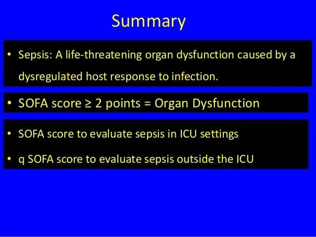 sofa score icu mortality cinema ireland new definition of sepsis... sepsis 3