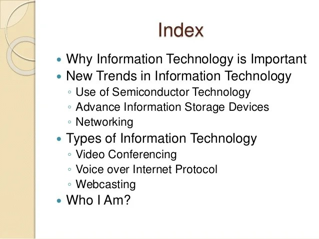 New Technology Information Technology Latest