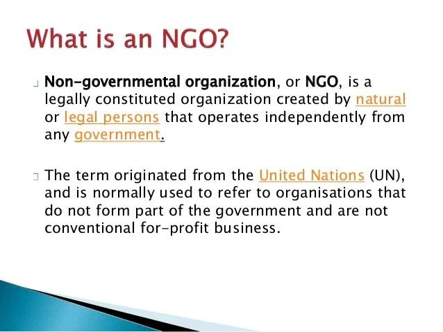 non governmental organization definition Gallery