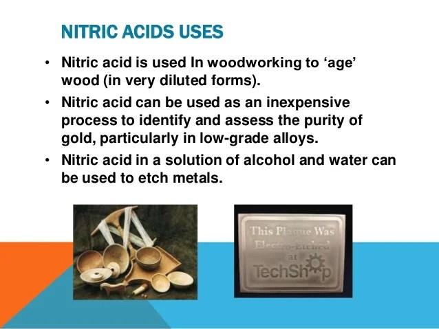 Nitric acid presentation