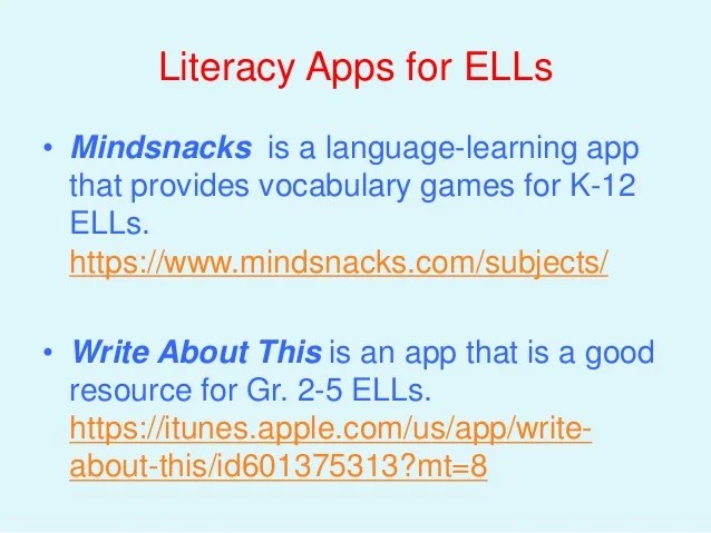 Game Based Learning For English Language Learners