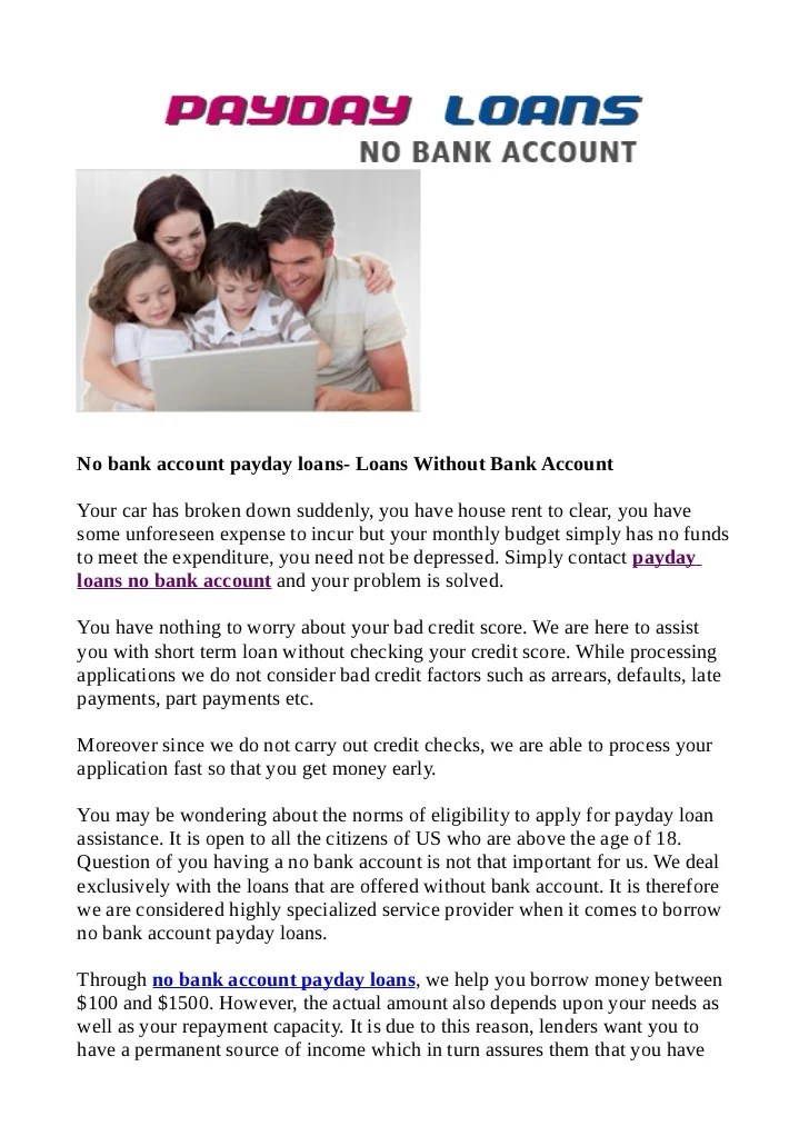 Cash Personal Check Without Bank Account