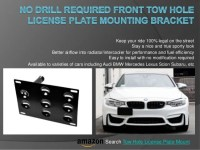No Drill Front Tow Hole License Plate Mounting Brackt Holder