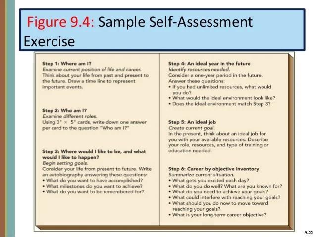 Self Development Goals Sample