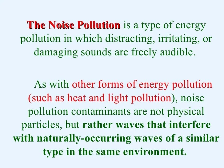 Essay About Noise Pollution - Usefulresults