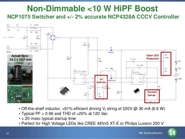 Non-Dimmable Lower Power LED Solutions