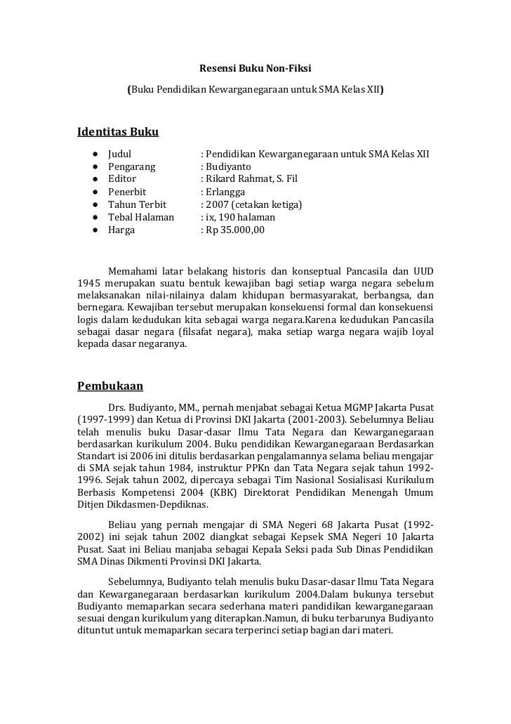 Ikhtisar Buku Non Fiksi : ikhtisar, fiksi, Resensi, Fiksi