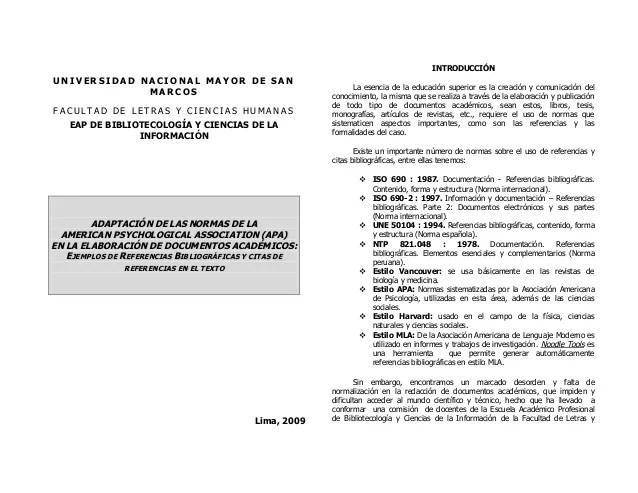 Ejemplo Bibliografia Normas Apa Professional Resume Cover