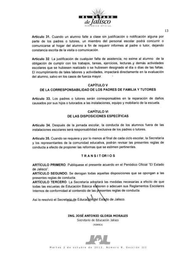 Normas De Conducta Secretaría De Educación Jalisco