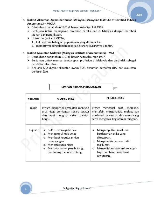 Prinsip Perakaunan Tingkatan 4 Bab 2 Cute766