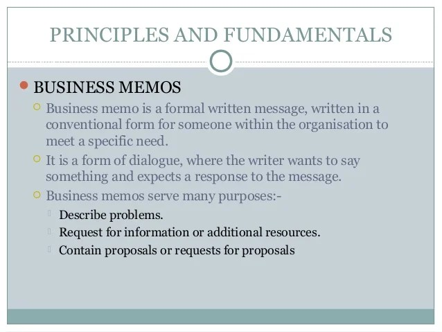 Gallery of Memos ~ Business Memo