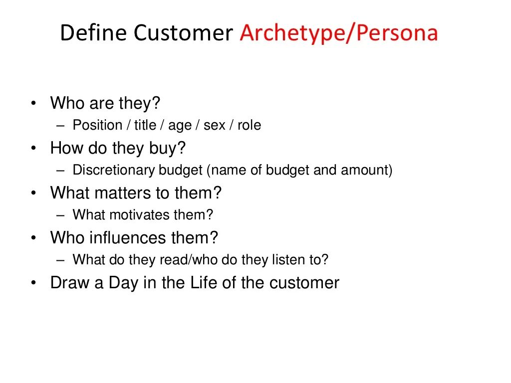 customer archetype