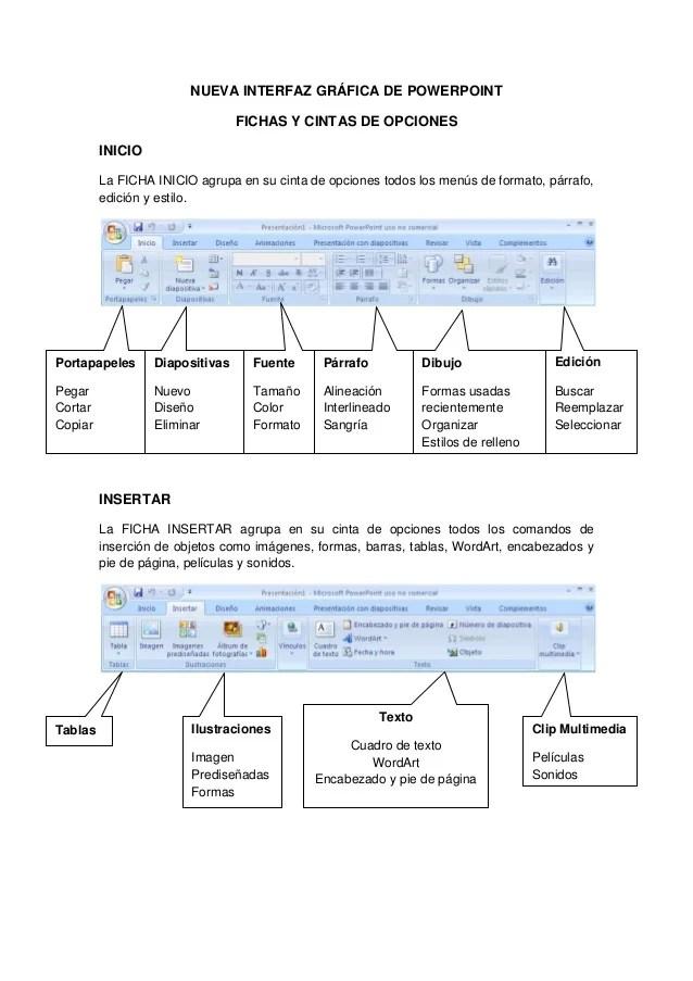 Nueva interfaz gráfica de powerpoint