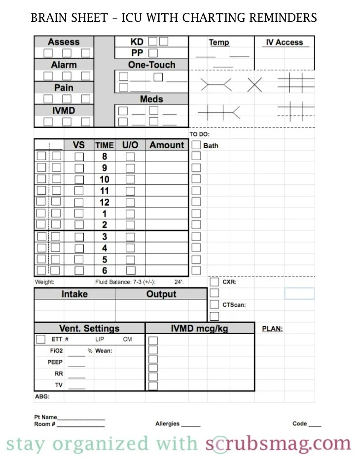 Sample Nursing Kardex Form